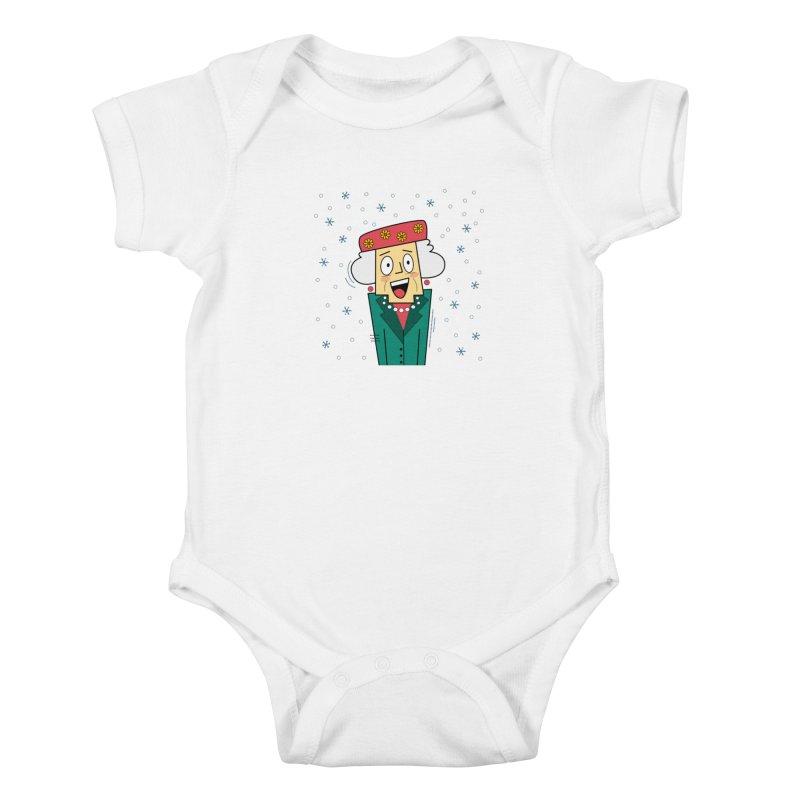 Zany Christmas Aunt Kids Baby Bodysuit by