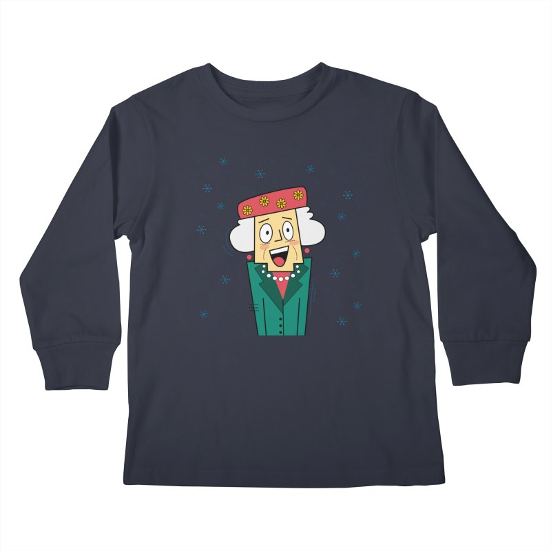 Zany Christmas Aunt Kids Longsleeve T-Shirt by