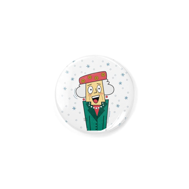 Zany Christmas Aunt Accessories Button by