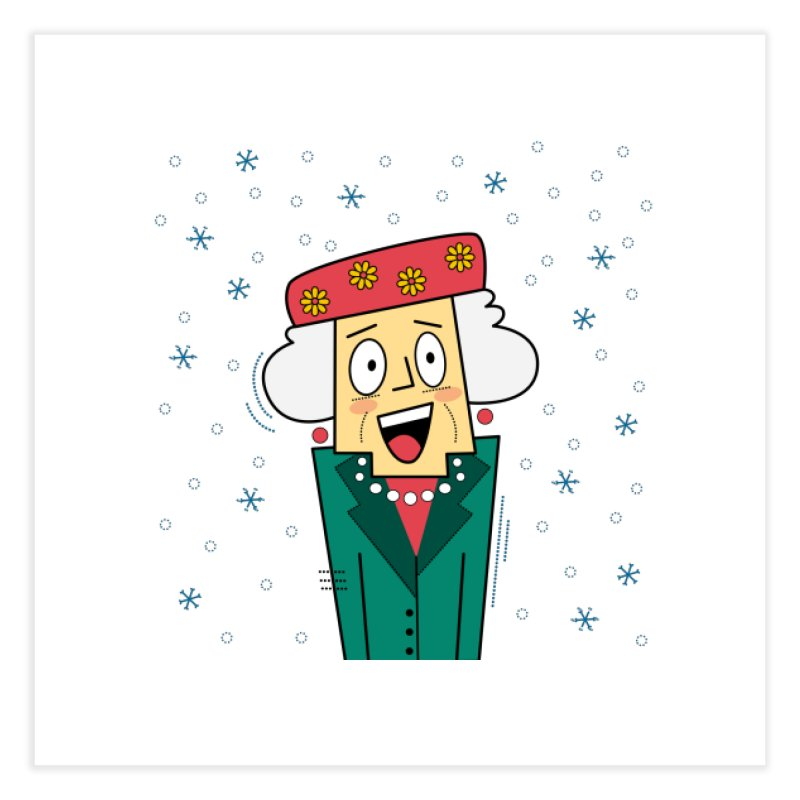 Zany Christmas Aunt Home Fine Art Print by