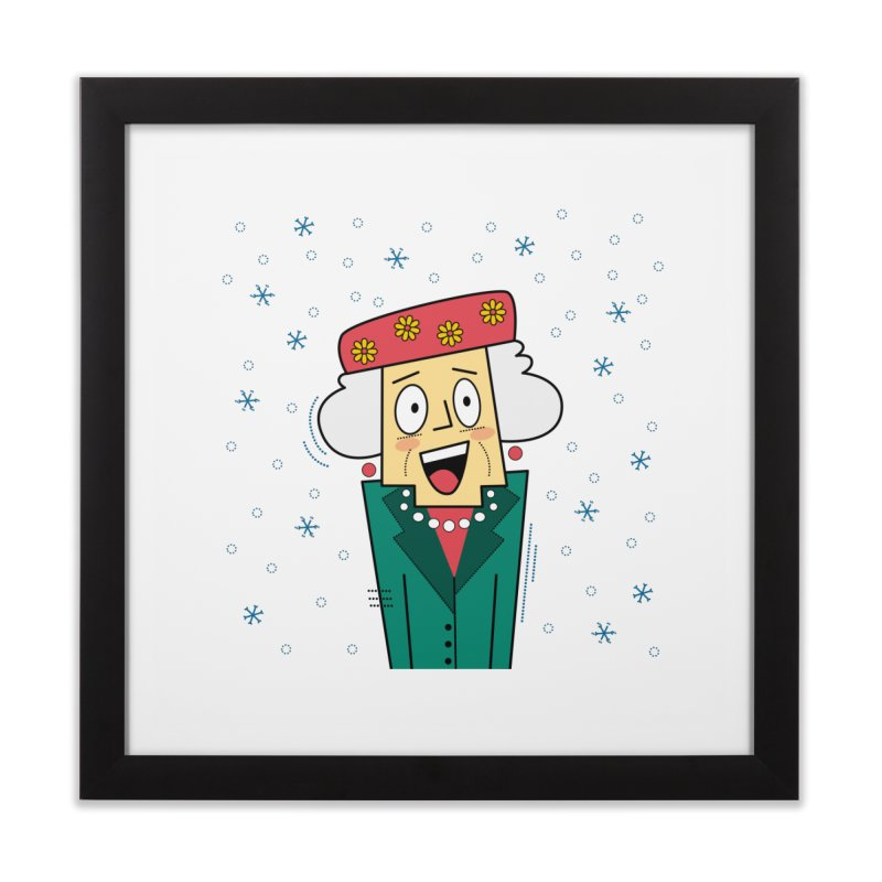 Zany Christmas Aunt Home Framed Fine Art Print by