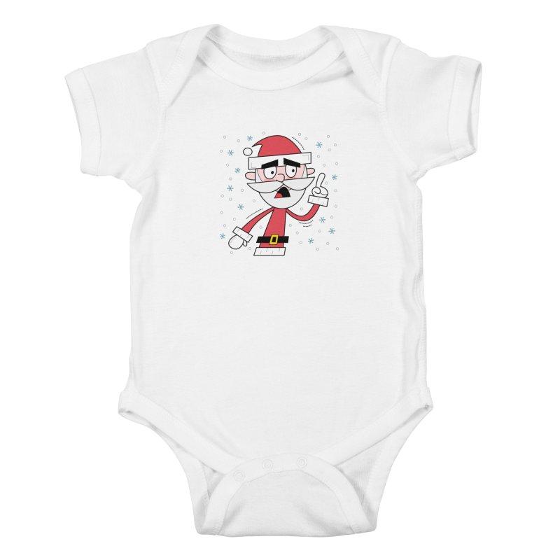 Grumpy Santa Kids Baby Bodysuit by