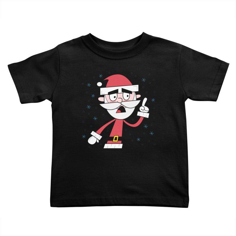Grumpy Santa Kids Toddler T-Shirt by
