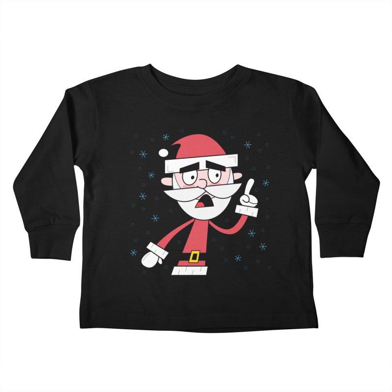 Grumpy Santa Kids Toddler Longsleeve T-Shirt by