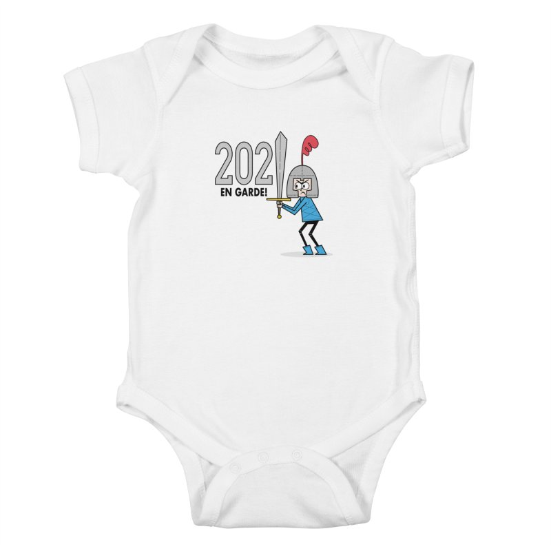 2021 En Garde! Blue Knight Kids Baby Bodysuit by