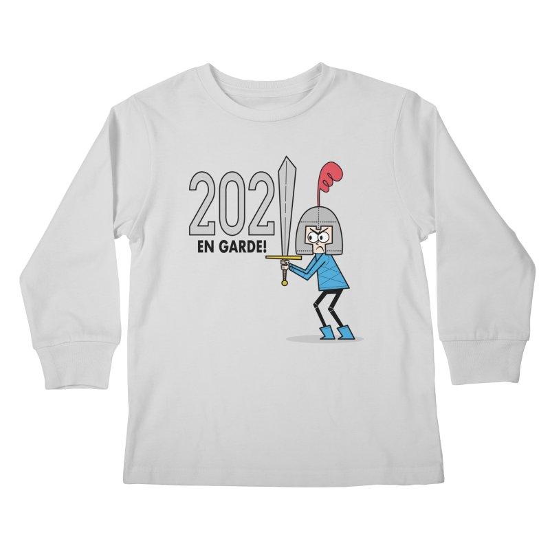 2021 En Garde! Blue Knight Kids Longsleeve T-Shirt by