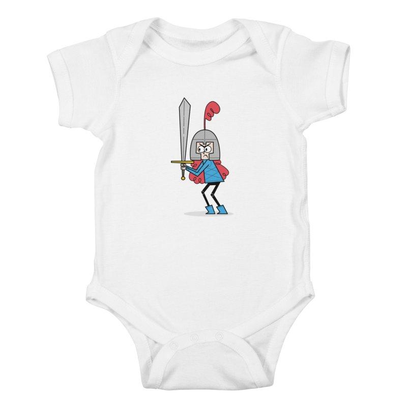 En Garde! Red Knight Kids Baby Bodysuit by