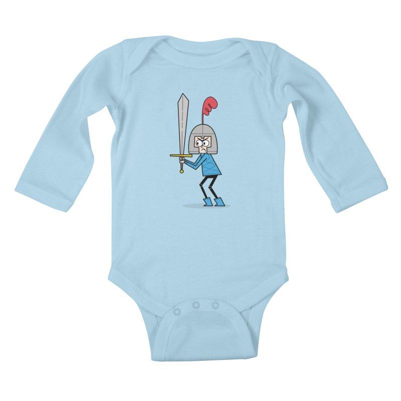 En Garde! Blue Knight Kids Baby Longsleeve Bodysuit by