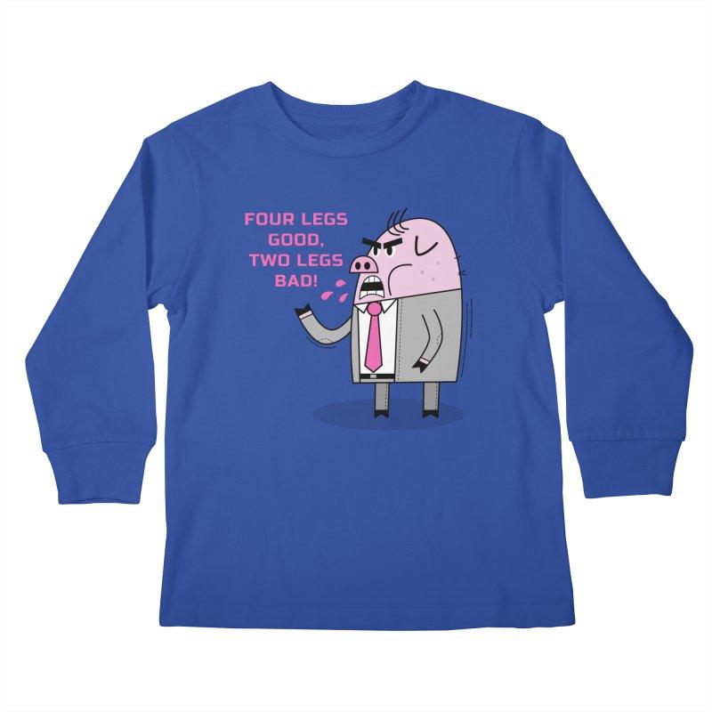 Dystopian Farm Animal Kids Longsleeve T-Shirt by