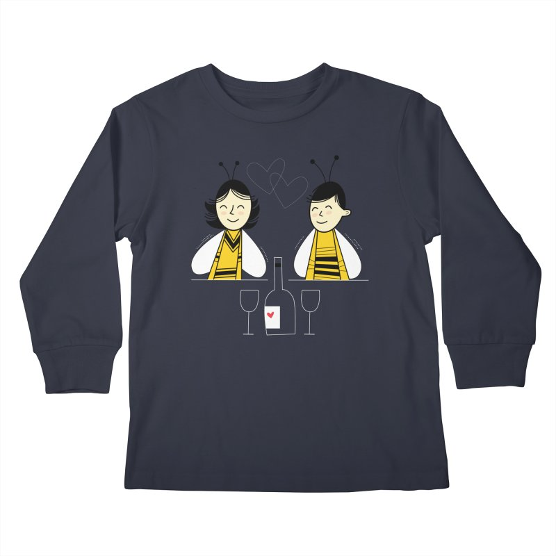 Honey Bees Kids Longsleeve T-Shirt by