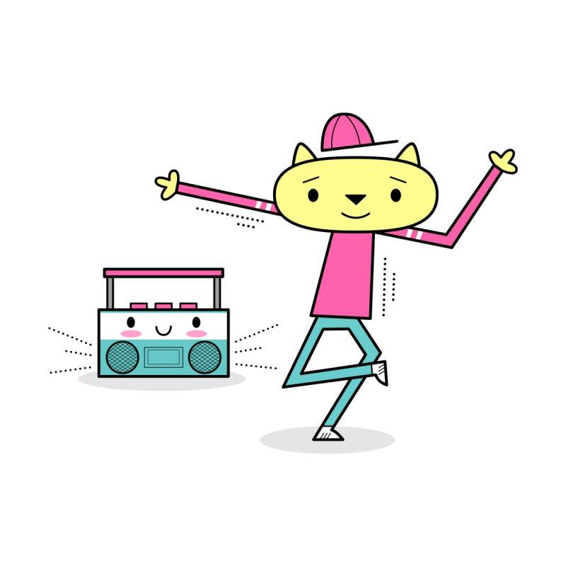 Break Dancing HipHop Cat and Kawaii Boom-Box Men's Tank by