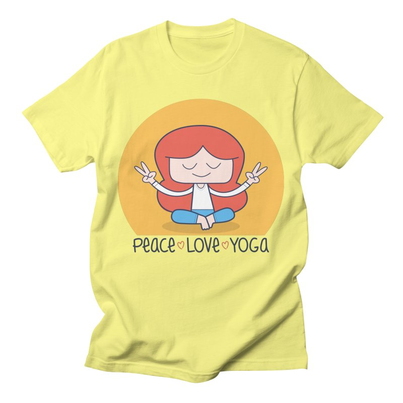 Peace, Love, and Yoga Men's T-Shirt by