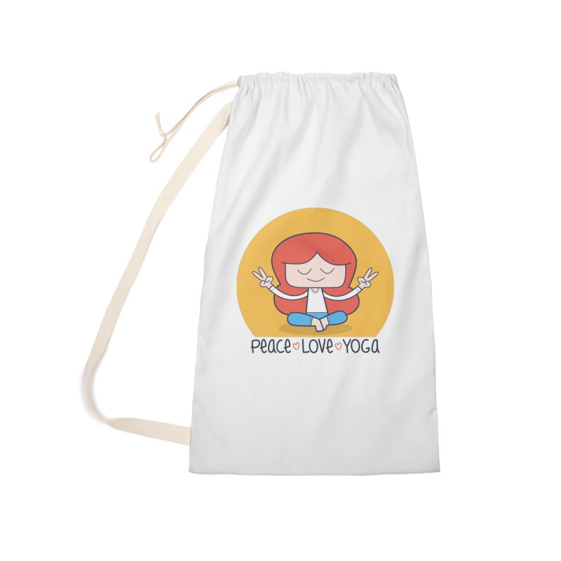 Peace, Love, and Yoga Accessories Bag by