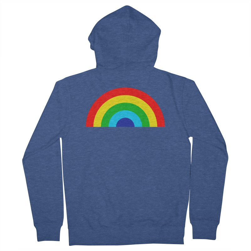 RAINBOW! Men's Zip-Up Hoody by Andy Pitts Artist Shop