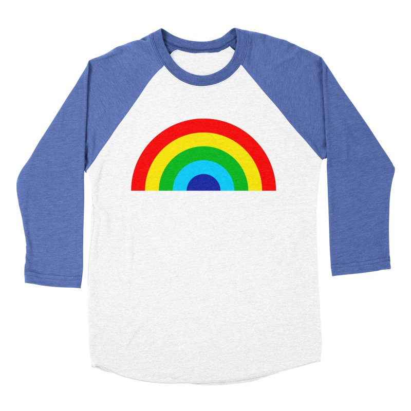 RAINBOW! Women's Baseball Triblend T-Shirt by Andy Pitts Artist Shop