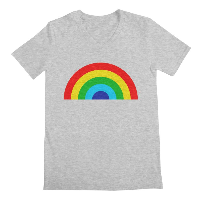 RAINBOW! Men's V-Neck by Andy Pitts Artist Shop
