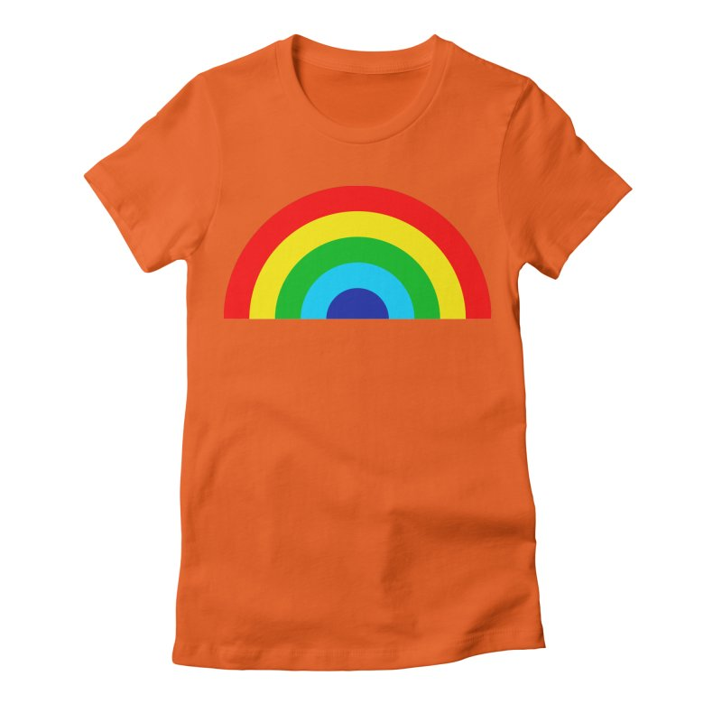 RAINBOW! Women's Fitted T-Shirt by Andy Pitts Artist Shop