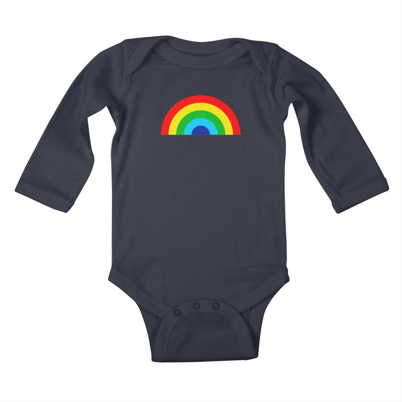 RAINBOW! Kids Baby Longsleeve Bodysuit by Andy Pitts Artist Shop
