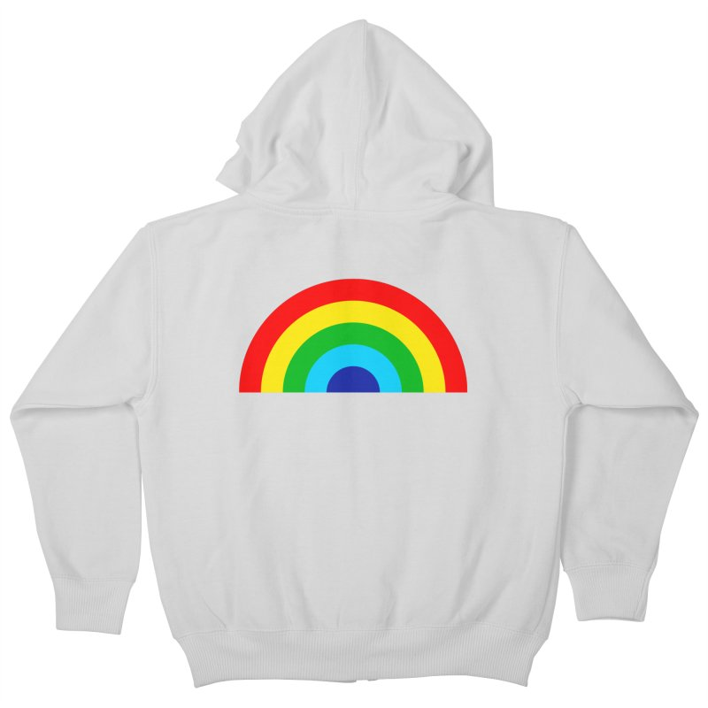 RAINBOW! Kids Zip-Up Hoody by Andy Pitts Artist Shop