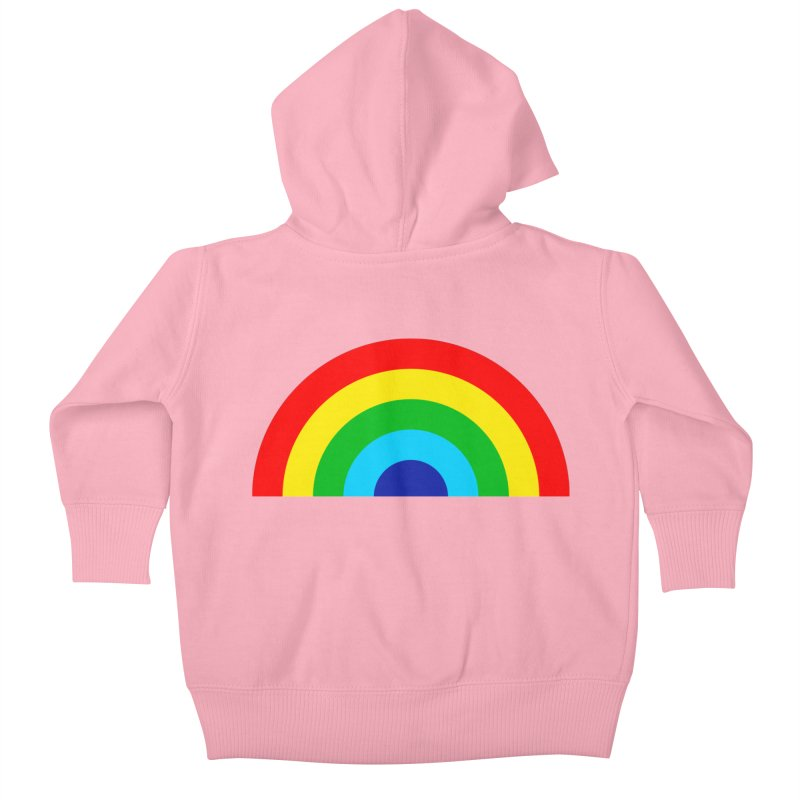 RAINBOW! Kids Baby Zip-Up Hoody by Andy Pitts Artist Shop