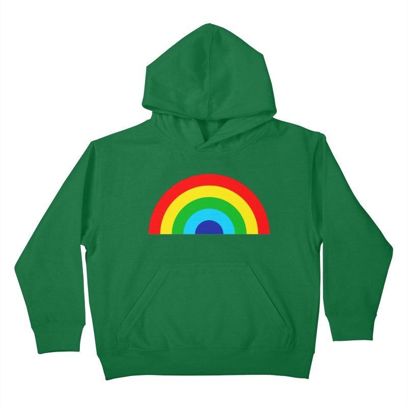 RAINBOW! Kids Pullover Hoody by Andy Pitts Artist Shop
