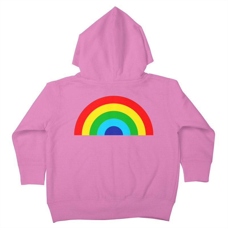 RAINBOW! Kids Toddler Zip-Up Hoody by Andy Pitts Artist Shop