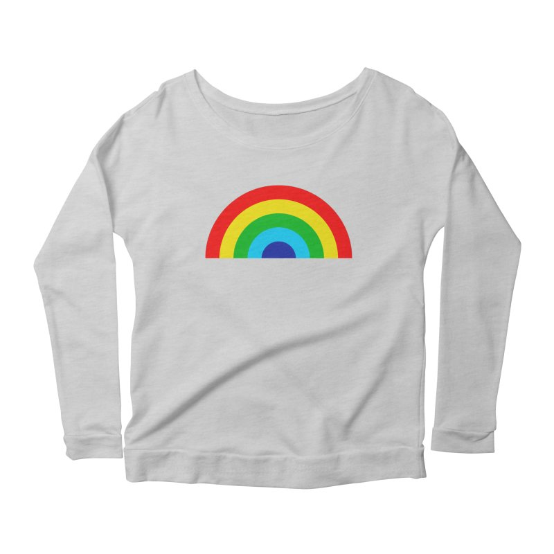 RAINBOW! Women's Longsleeve Scoopneck  by Andy Pitts Artist Shop