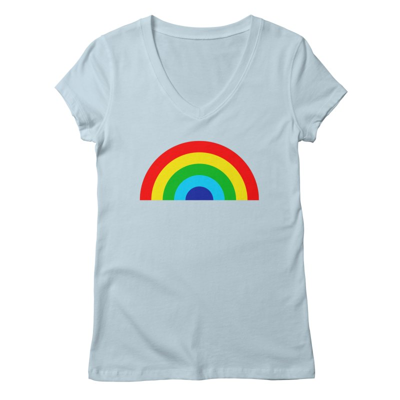 RAINBOW! Women's V-Neck by Andy Pitts Artist Shop