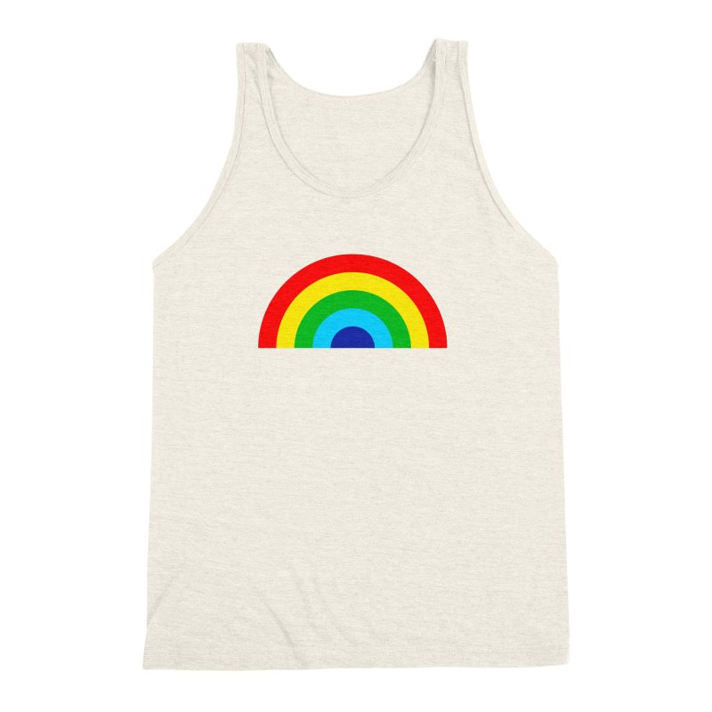 RAINBOW! Men's Triblend Tank by Andy Pitts Artist Shop