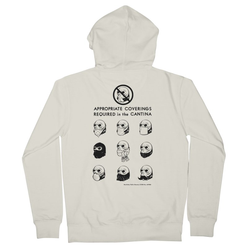 Cantina Rules Women's Zip-Up Hoody by Andy Pitts Artist Shop