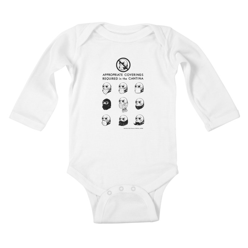 Cantina Rules Kids Baby Longsleeve Bodysuit by Andy Pitts Artist Shop