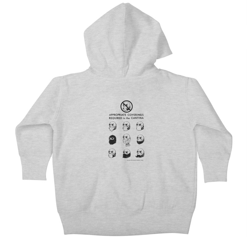 Cantina Rules Kids Baby Zip-Up Hoody by Andy Pitts Artist Shop
