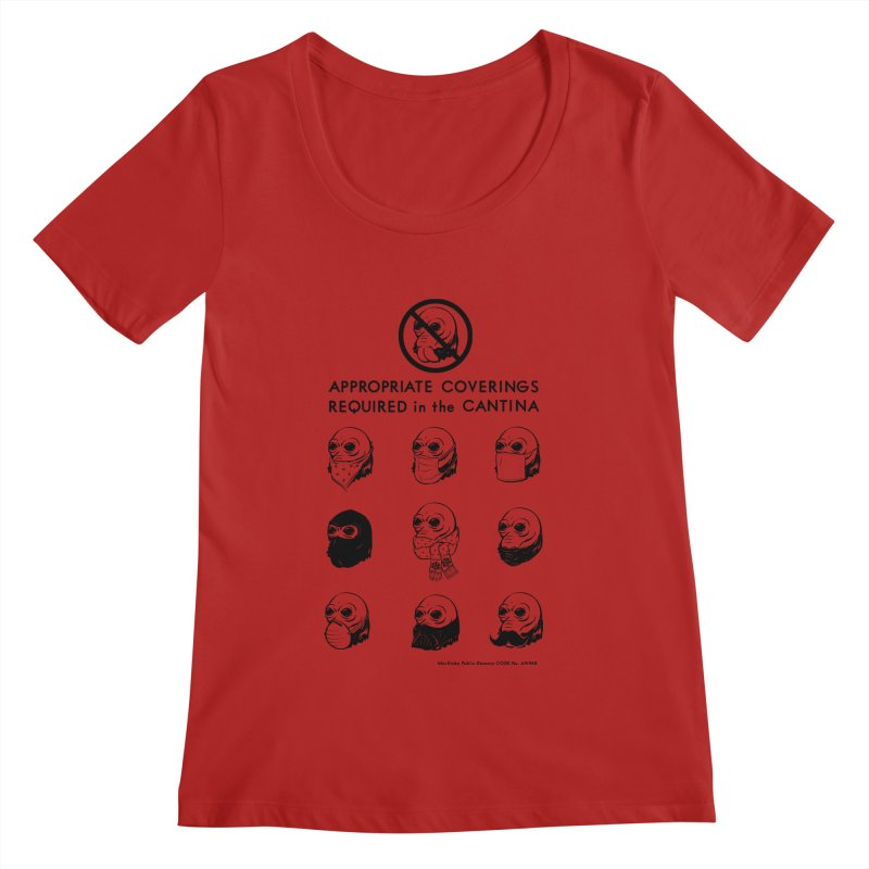 Cantina Rules Women's Scoopneck by Andy Pitts Artist Shop
