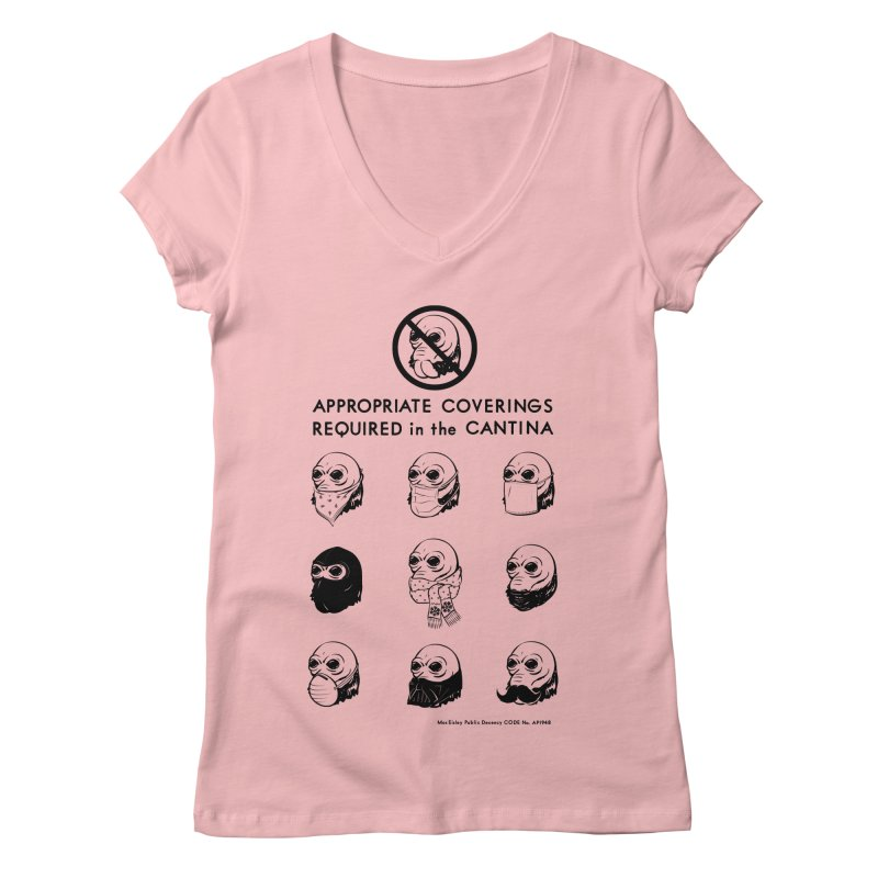 Cantina Rules Women's V-Neck by Andy Pitts Artist Shop