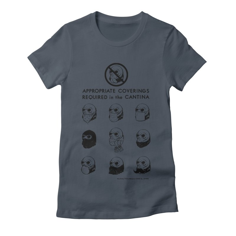 Cantina Rules Women's Fitted T-Shirt by Andy Pitts Artist Shop