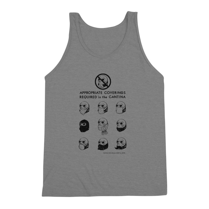 Cantina Rules Men's Triblend Tank by Andy Pitts Artist Shop