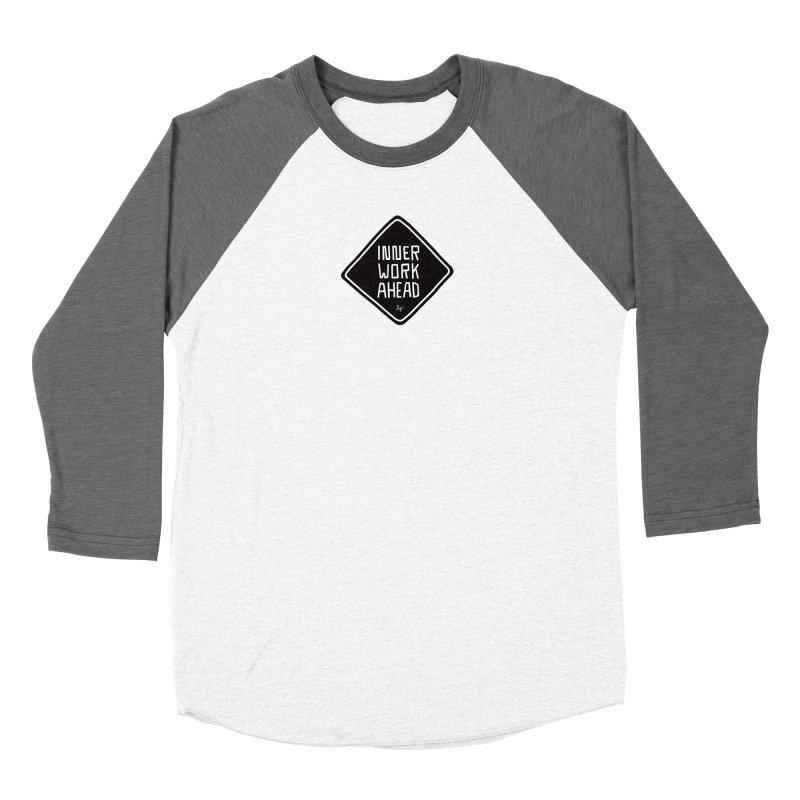 Inner Work Ahead Men's Baseball Triblend Longsleeve T-Shirt by No Agenda by Andy Rado