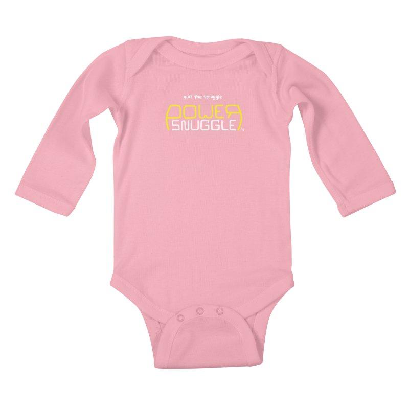 Power Snuggle Kids Baby Longsleeve Bodysuit by No Agenda by Andy Rado
