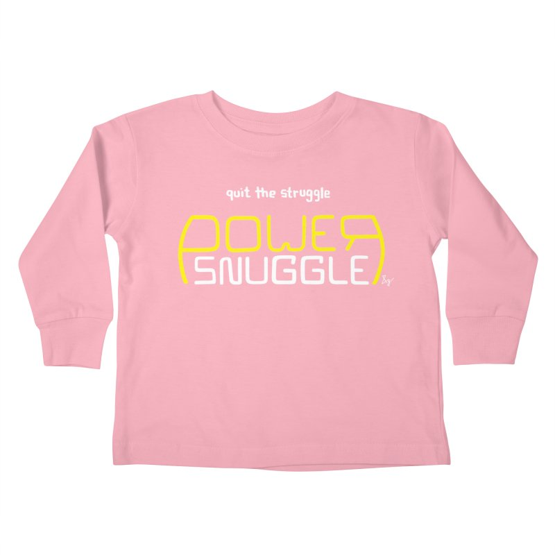 Power Snuggle Kids Toddler Longsleeve T-Shirt by No Agenda by Andy Rado