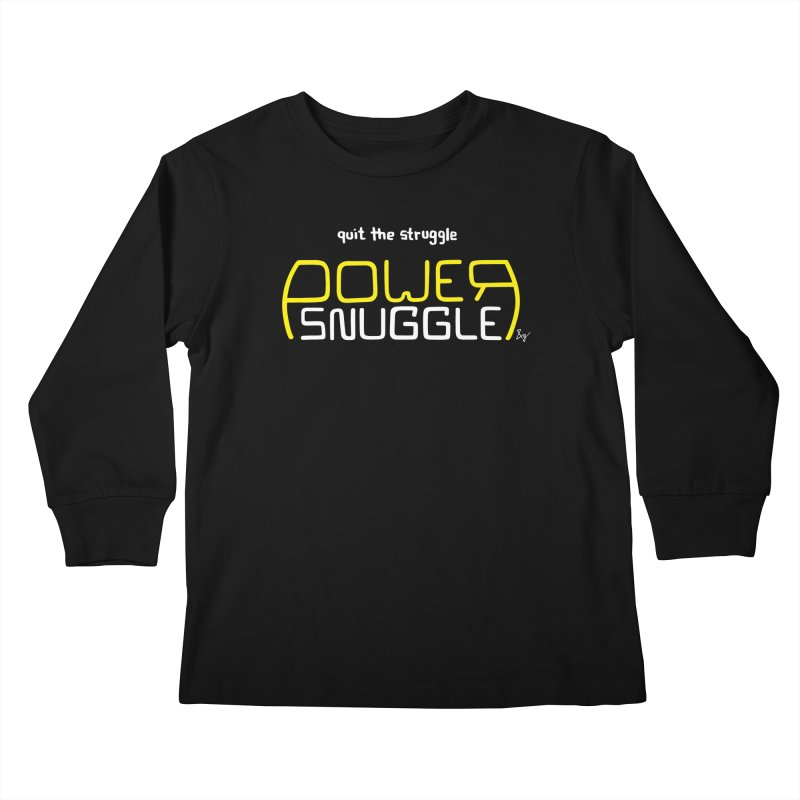Power Snuggle Kids Longsleeve T-Shirt by No Agenda by Andy Rado