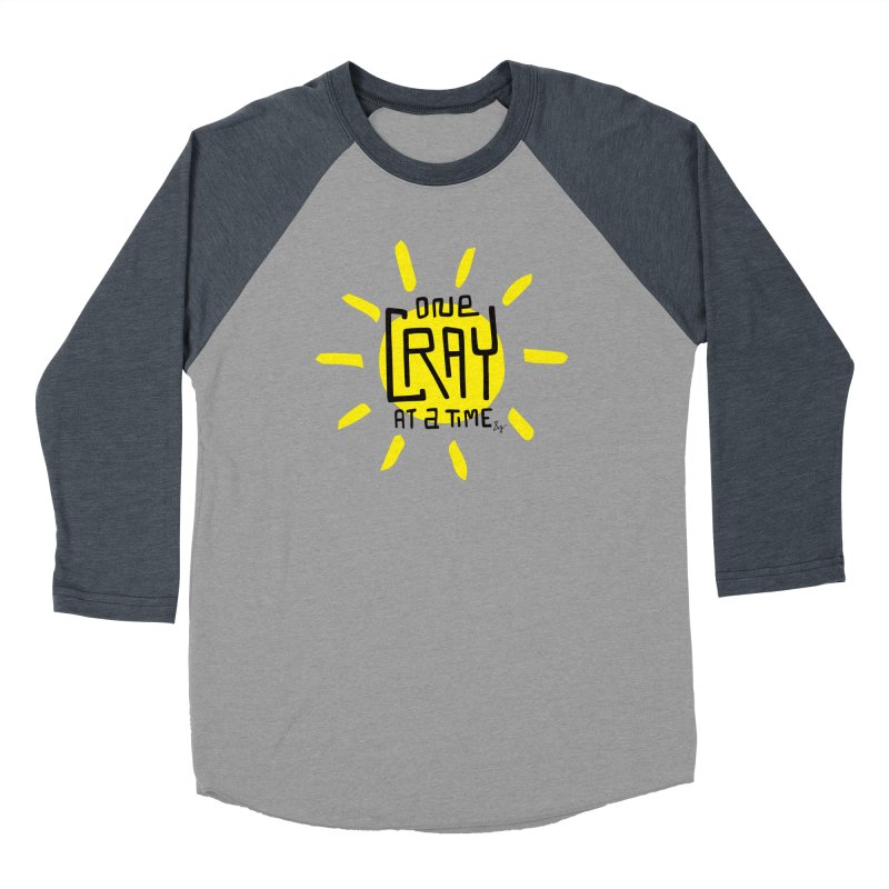 One Cray at a Time Men's Baseball Triblend Longsleeve T-Shirt by No Agenda by Andy Rado