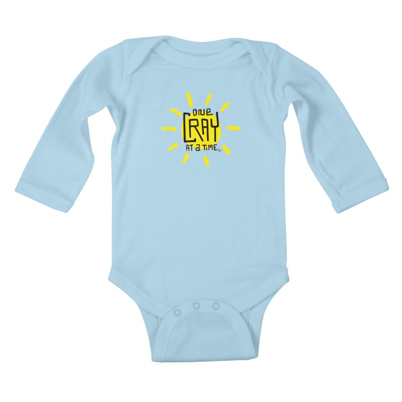 One Cray at a Time Kids Baby Longsleeve Bodysuit by No Agenda by Andy Rado