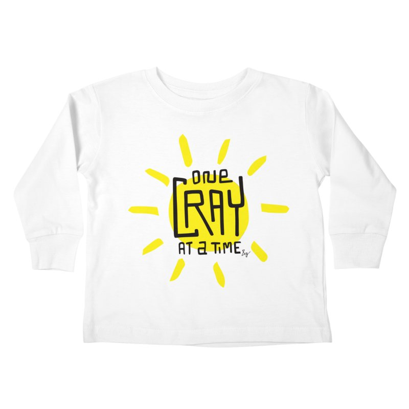 One Cray at a Time Kids Toddler Longsleeve T-Shirt by No Agenda by Andy Rado