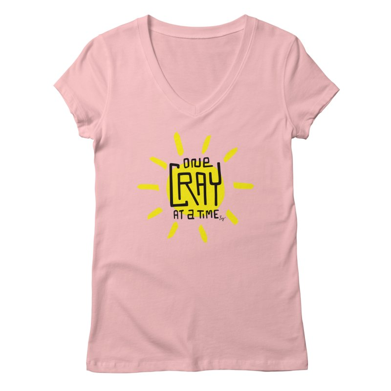 One Cray at a Time Women's Regular V-Neck by No Agenda by Andy Rado