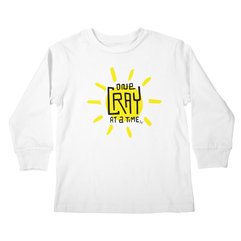 One Cray at a Time Kids Longsleeve T-Shirt by No Agenda by Andy Rado