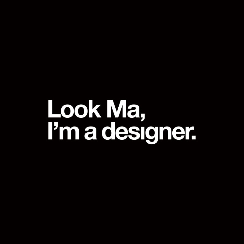 Look Ma, I'm a Designer Women's V-Neck by &y | Andy Rado
