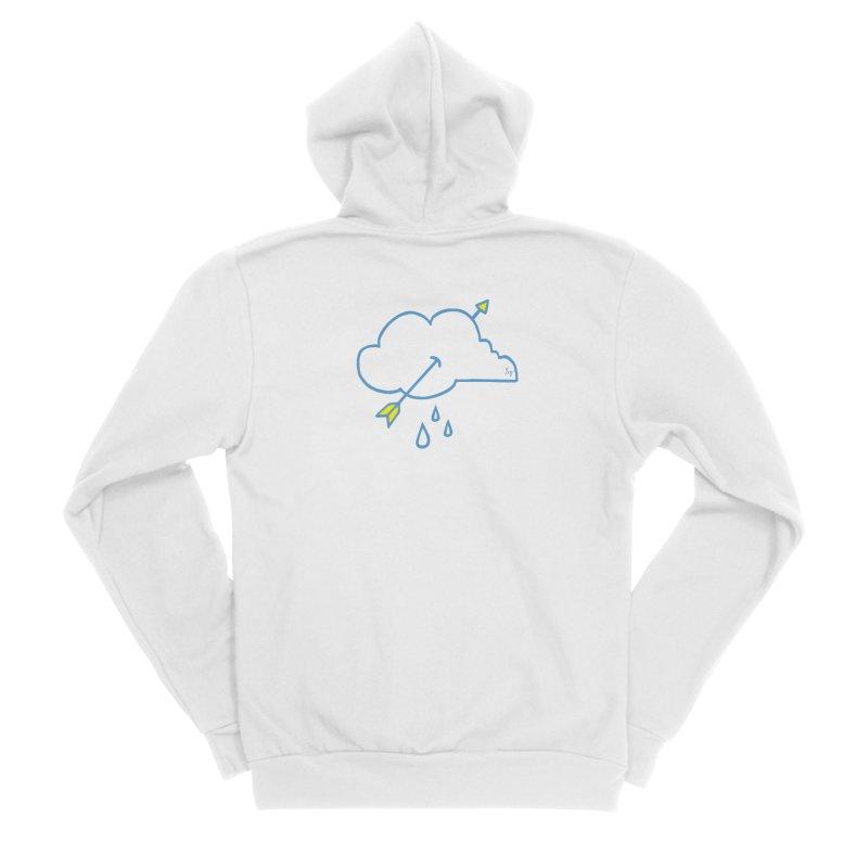 Cloud Lover Women's Sponge Fleece Zip-Up Hoody by No Agenda by Andy Rado