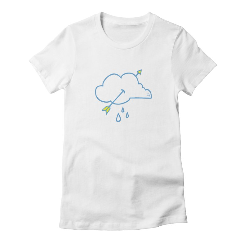 Drought Breaker Women's Fitted T-Shirt by No Agenda by Andy Rado