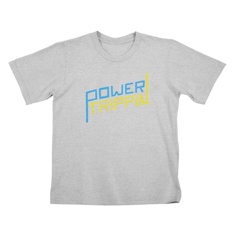 Power Trippin Kids T-Shirt by &y   Andy Rado