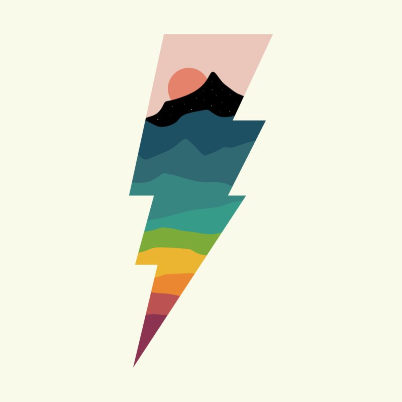 Rainbow Lightning by andywestface's Artist Shop